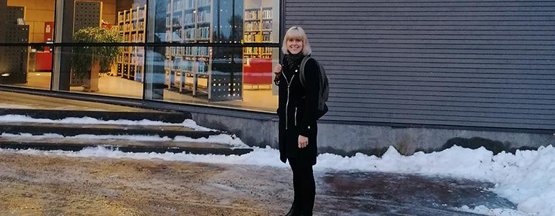 Laura Similä Limingan kirjastossa
