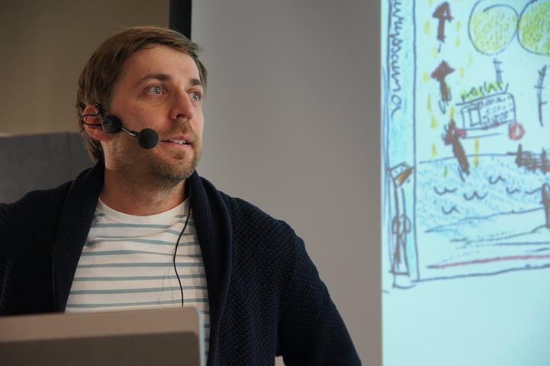 Kirjailija Lauri Hirvonen.